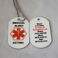 Personalised Medical Alert Necklace for Asthma