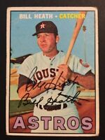 Bill Heath Astros Signed 1967 Topps Baseball Card #172 Auto Autograph 1