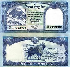 NEPAL 50 Rupees Banknote World Money Currency Asia note p63 Sign 19 Bill Tahr