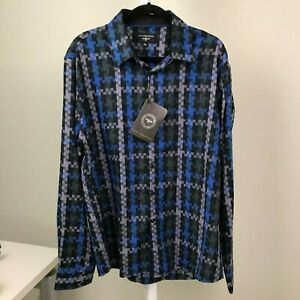 V.I.P Collection  Long Sleeve Men's Shirt - With Tags Regular Size 2XL