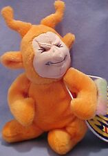 Orange AND Purple set of 2 Teletushy Meanies Twisted Toys Teletubbies Plush