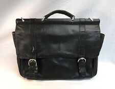 BOSCA Portfolio Briefcase Black Leather