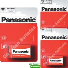 3 x Panasonic 9V PP3 Zinc Carbon Batteries, 9 Volt Smoke Alarms, LR22, MX1604