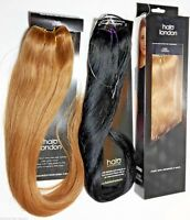 Genuine Halo London 100% Indian Remy Human Hair Extensions Full HeadBand Wire in