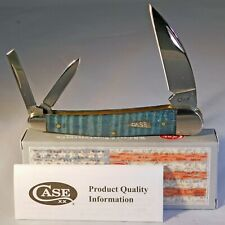 Case XX Turquoise Smooth Curley Maple Wood Seahorse Knife New