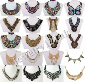 Fashion Vintage Jewelry Pendant Chain Crystal Choker Statement Necklace Collar