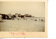 France, Saint-Palais, La Plage  Vintage print.  Tirage citrate  5x7  Circa