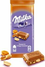 "Russian milk chocolate ""Milka"" with peanuts caramel pieces rice  90 gr (3.17 oz)"