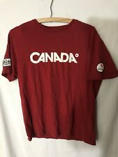 Rare Vintage Canadian Paralympic Committee TShirt Hudson Bay Olympics Canada Red