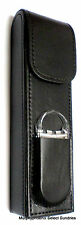 Kingstar Black Synthetic Leather Travel Cigar Case w/ Cutter  NIB