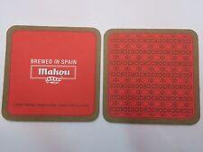 Beer Collectible COASTER ~ MAHOU Bier (Grupo Mahou-San Miguel-Carlsberg) ~ SPAIN