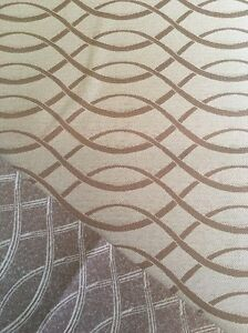 """Upholstery Gold Wave Bands Polyester Fabric 1.7 Yards 47"""" Wide"""