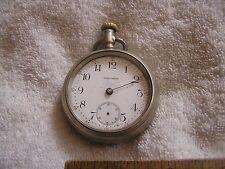 Antique American Waltham Pocket Watch Nickel Silver Illinois Case