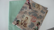 Canvas mint Rest Stoffpaket 2 x 50 x 140 Canvas Shabby