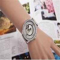Unisex Gold/Silver Tone Watch Diamond Face Stainless Steel Case Quartz Watch ASD