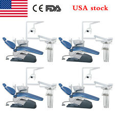 1 4 Pack Dental Unit Chair Computer Control Dc Motor Hard Leather Doctor Stool