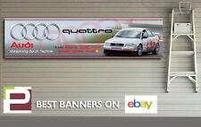 Audi A4 Quattro Touring Car Banner for Workshop, Garage, 1300mm x 325mm