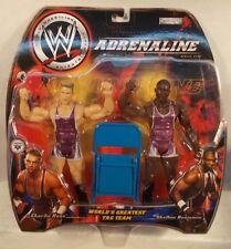 WWE Adrenaline Series 5 Charlie Haas & Shelton Benjamin WGTT Team Angle (MOC)