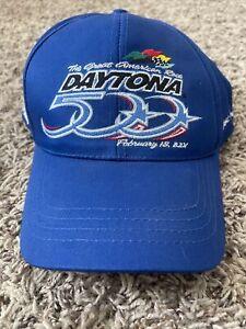 Vintage 2001 NASCAR Daytona 500 Snapback Hat Cap ISC Motorsports Blue NWT