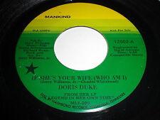 Doris Duke: If She's Your Wife (Who Am I) / It Sure Was Fun 45 - Soul