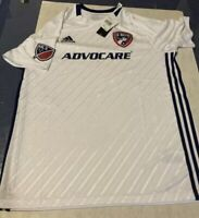 Adidas Climalite MLS FC Dallas Away Advocare Soccer Jersey White/Blue NWT Large