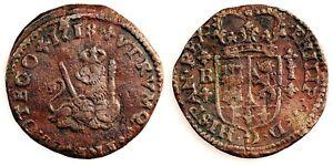 Spain- Felipe V. 1 maravedi. 1818. Barcelona. Cobre 1,7 g.