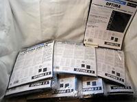 Leuchtturm OPTIMA Hüllen 10er  Packungen in schwarz zur Auswahl