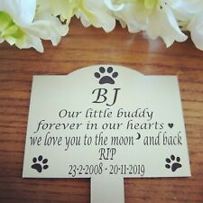 Personalised pet memorial plaque name plate pet memorial garden memorial stake