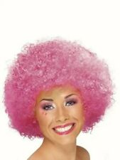 Pink Afro Clown wig Pink curly afro hair Fancy dress costume