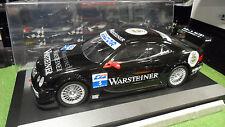 MERCEDES BENZ CLK DTM WARSTEINER Noir + VITRINE 1/12 CARSON voiture miniature
