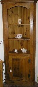 NEW SOLID WOODEN TALL CORNER CUPBOARD UNIT CHUNKY RUSTIC PLANK PINE FURNITURE