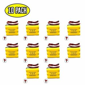 (10 pack) 3.6v 700mAh Ni-CD Battery Pack Replacement for Emergency / Exit Light
