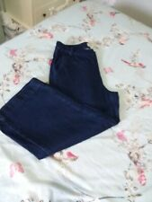new look dark denim 3/4 jeans size 12