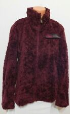 Pendleton Woman's Plush Coat Full Zipper Size XL Burgundy  NEW