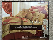 Chris Madden Savoy Queen Comforter Set W/2 Pillow Shams Plus 1 Bed skirt