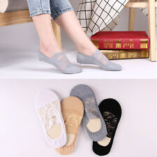 5/10pairs Womens/Girl Sexy Lace Boat Socks Invisible No Show Liner Socks Low Cut