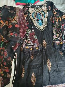 Asian  Pakistani Casual  clothes Casual  kameez nd Dupata size Xl