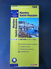 IGN 124 Nantes Saint-Nazaire map 1:100,000  Tourism Map Walking Paths GPS