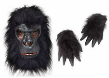 GORILLA KIT: Mask and Hands Ape Monkey Fancy Dress Costume Outfit