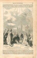 Ex-Voto Ville de Paris Tableau Largillière Eglise de Saint-Etienne- GRAVURE 1849