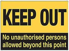Keep Out No Unauthorised Persons Allowed Beyond This Point fridge magnet   (og)
