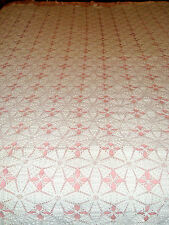 Vintage Hand Made Bedspread 72 x 76 White Crocheted Lovely