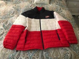 New ... XXL POLO RALPH LAUREN Mens Down Jacket Puffer Packable Coat Red & White