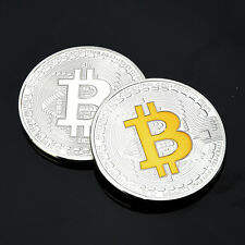 Bitcoin Coins Computer Kupferbarren Münze Medaille Gold Siber Kunst Gift!