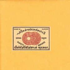VINTAGE Match Matchbox Label DEEP RICH COLOR Satang Brand Ancient Coins ? B1