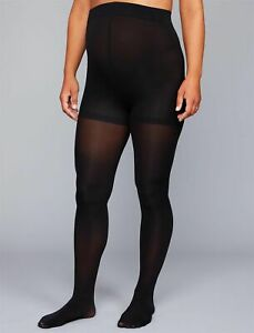 A Pea in The Pod Opaque Maternity Tights Black Comfort Tummy Panel Size B