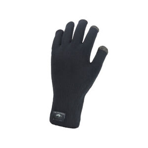 Sealskinz Waterproof All Weather Ultra Grip Knitted Glove - Black Large