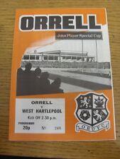 Programma di rugby 1983/1984: orrell V West Hartlepool [John Player COPPA] (Tea