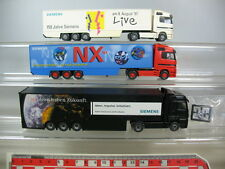 n103-0, 5 #Wiking H0 Mercedes Benz Semi Truck (3 Piece): SIEMENS, NX, 3i,