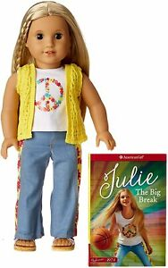 American Girl Julie Doll & Paperback Book Free Shipping